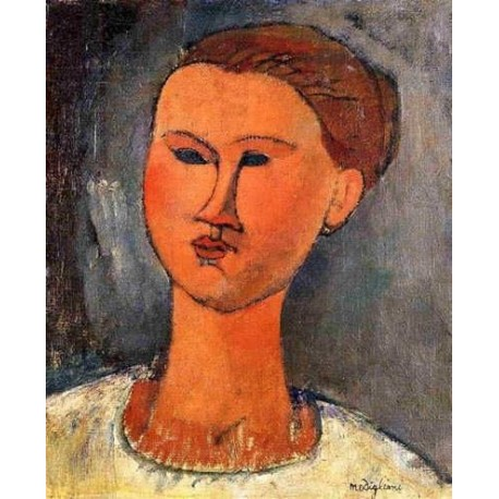 Woman_s Head by Amedeo Modigliani