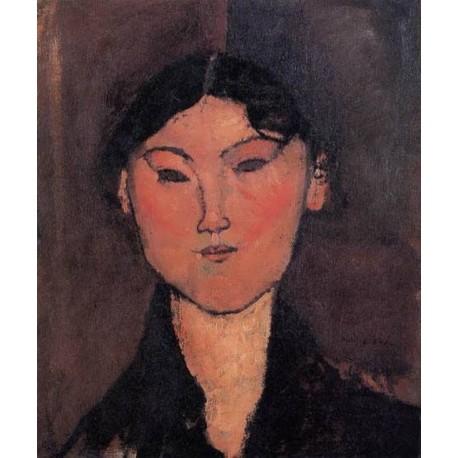 Woman_s Head (aka Rosalia) by Amedeo Modigliani
