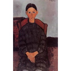 Young Girl in a Black Apron by Amedeo Modigliani oil painting art gallery