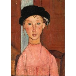 Young Girl in Beret by Amedeo Modigliani