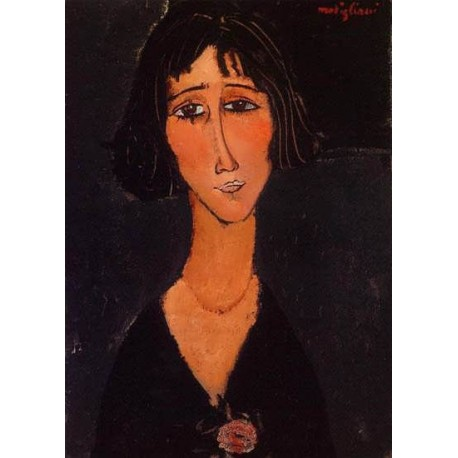 Young Girl Wearing a Rose by Amedeo Modigliani