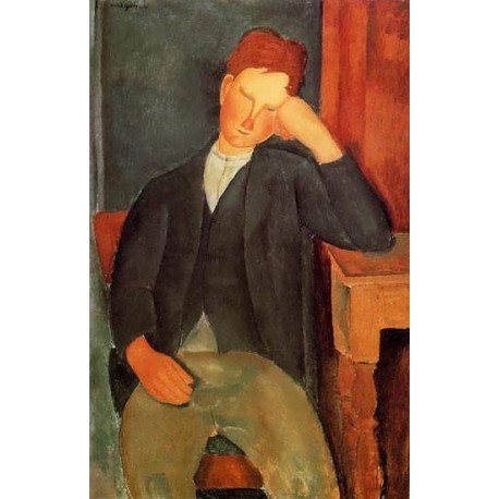 Young Peasant (aka The Young Apprentice) by Amedeo Modigliani