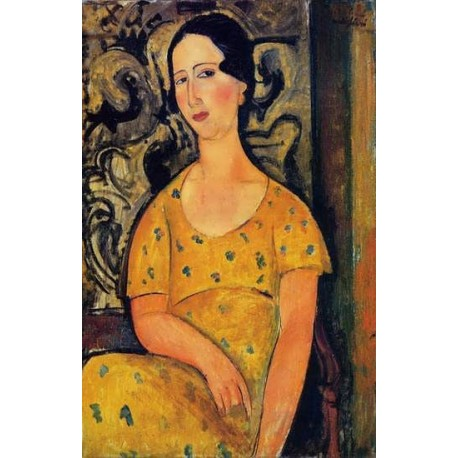 Young Woman in a Yellow Dress (aka Madame Modot) by Amedeo Modigliani