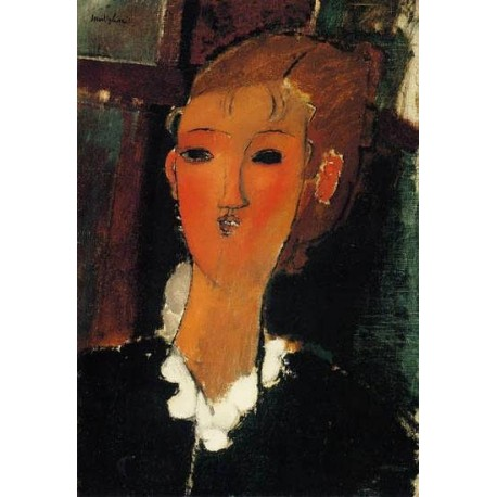 Young Woman with a Small Ruff by Amedeo Modigliani