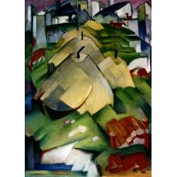 Alpenszene by Franz Marc oil painting art gallery