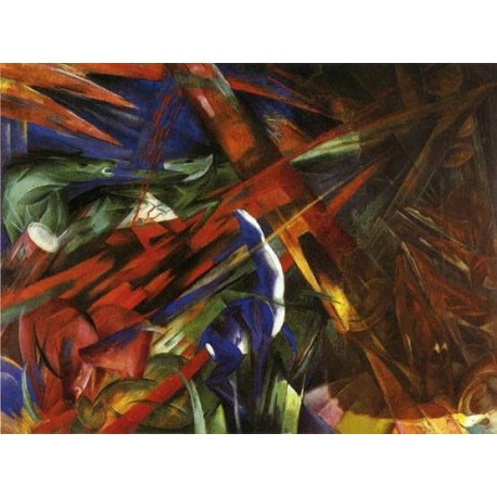 Animal Destinies by Franz Marc oil painting art gallery