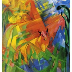 Animals In Landscape by Franz Marc oil painting art gallery