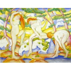 Bathing Girls by Franz Marc oil painting art gallery