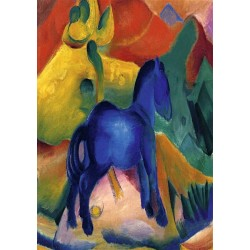 Blue Horses by Franz Marc oil painting art gallery