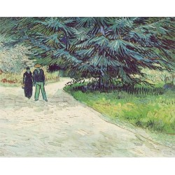 The Poet's Garden by Vincent Van Gogh - Art gallery oil painting reproductions