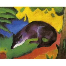 Blue-Black Fox by Franz Marc oil painting art gallery