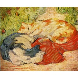 Cats by Franz Marc oil painting art gallery