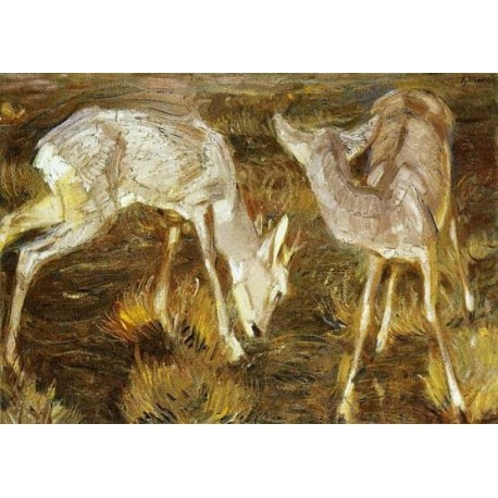Deer At Dusk by Franz Marc oil painting art gallery