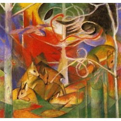 Deer In The Forest by Franz Marc oil painting art gallery