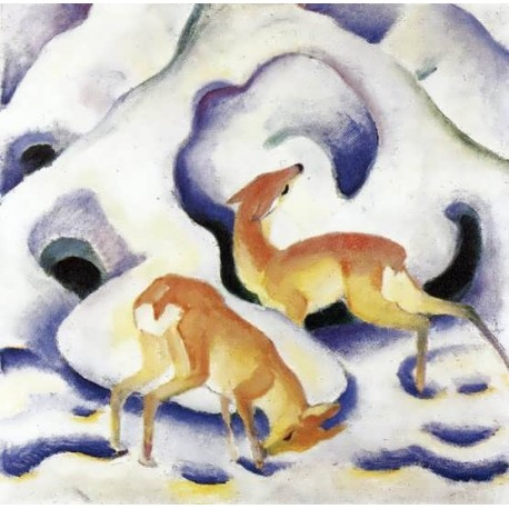Deer In The Snow by Franz Marc oil painting art gallery