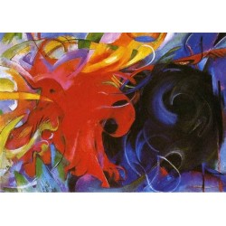 Fighting Forms by Franz Marc oil painting art gallery