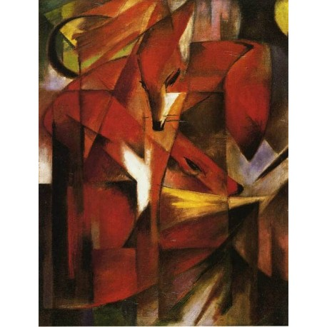 Foxes by Franz Marc oil painting art gallery