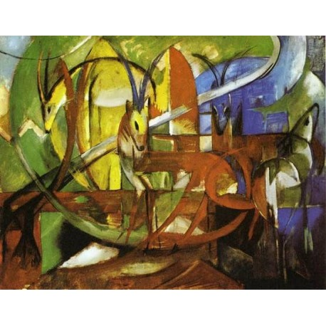 Gazelles by Franz Marc oil painting art gallery