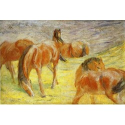 Grazing Horses by Franz Marc oil painting art gallery