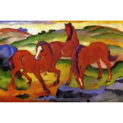 Grazing Horses IV by Franz Marc oil painting art gallery