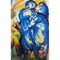 Group of Horses by Franz Marc oil painting art gallery