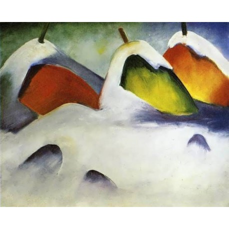 Haystacks In The Snow by Franz Marc oil painting art gallery