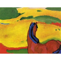 Horse In A Landscape by Franz Marc oil painting art gallery