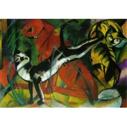 Three Cats by Franz Marc oil painting art gallery