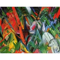 In The Rain by Franz Marc oil painting art gallery