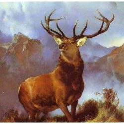 Landseer Monarch Of  The Glen  by Franz Marc oil painting art gallery
