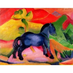 Little Blue Horse by Franz Marc oil painting art gallery