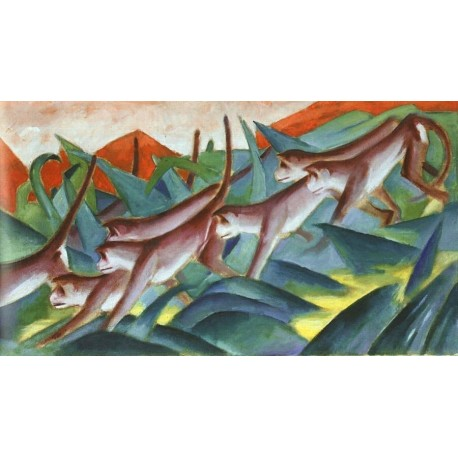 Monkey Frieze by Franz Marc oil painting art gallery