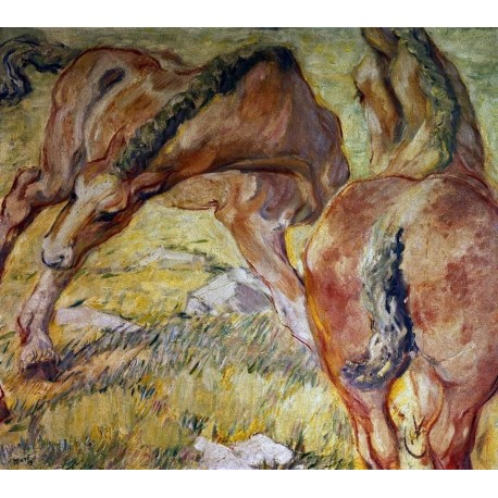 Mutterpferd und Fohlen by Franz Marc oil painting art gallery