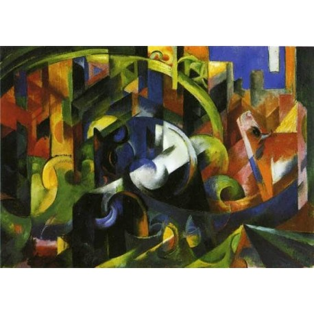 Picture With Cattle by Franz Marc oil painting art gallery