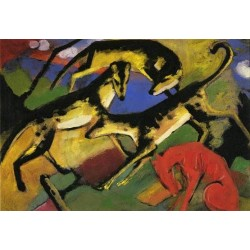 Playing Dogs by Franz Marc oil painting art gallery