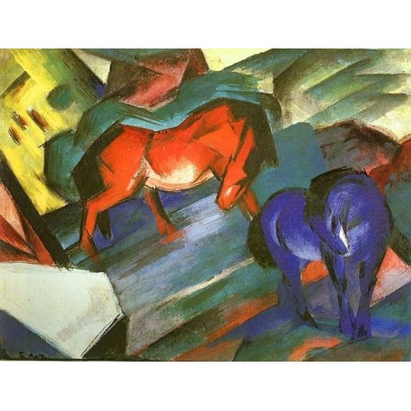Red and Blue Horse by Franz Marc oil painting art gallery