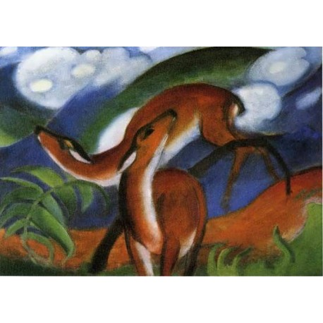 Red Deer II by Franz Marc oil painting art gallery