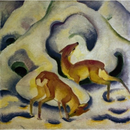 Rehe im Schnee by Franz Marc oil painting art gallery