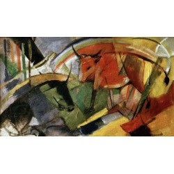 Rinder by Franz Marc oil painting art gallery