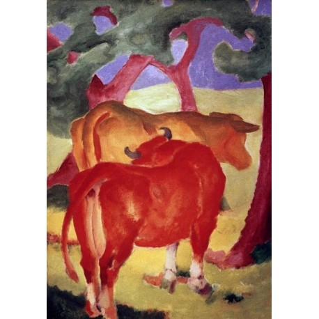 Rote Kuhe by Franz Marc oil painting art gallery