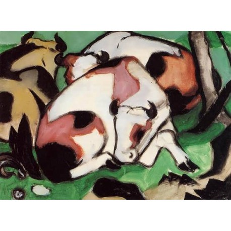 Ruhende Kuhe by Franz Marc oil painting art gallery