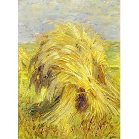 Sheaf Of Grain by Franz Marc oil painting art gallery