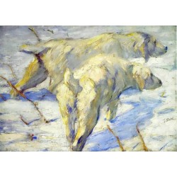 Siberian Sheepdogs by Franz Marc oil painting art gallery