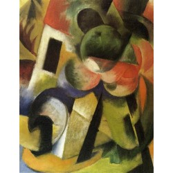 Small Composition II by Franz Marc oil painting art gallery