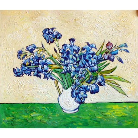 Vase of Irises, Strauss 1890 by Vincent Van Gogh