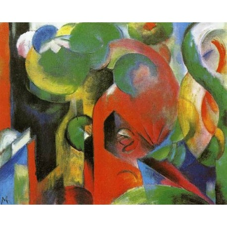 Small Composition III by Franz Marc oil painting art gallery