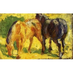 Small Horse Picture by Franz Marc oil painting art gallery