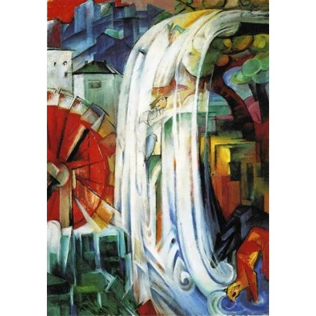 The Enchanted Mill by Franz Marc oil painting art gallery