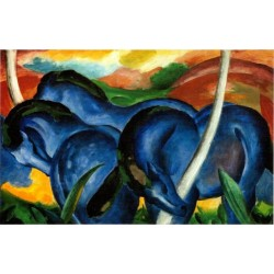The Large Blue Horses by Franz Marc oil painting art gallery