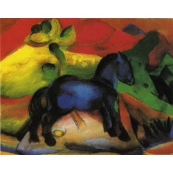 The Little Blue Horse by Franz Marc oil painting art gallery